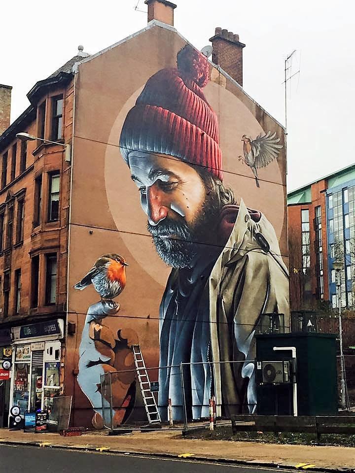 St Mungo mural, Glasgow